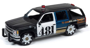 Johnny Lightning Johnny Lightning 1/64 Street Freaks 2020 1A - Police - 1997 Chevrolet Tahoe, Flat Black