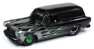 Johnny Lightning Johnny Lightning 1/64 Street Freaks 2020 1B - 1960 AMC Rambler Wagon, Black Pearl with Silver