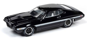 Johnny Lightning Johnny Lightning 1/64 Street Freaks 2020 1B - 1972 Ford Torino, Black and White
