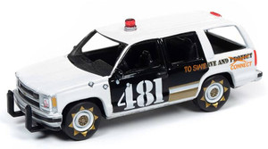 Johnny Lightning Johnny Lightning 1/64 Street Freaks 2020 1B - Police - 1997 Chevrolet Tahoe, Gloss White