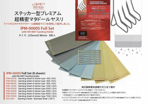 Infini Models Infini Models Premium Ultra Precision Sanding Sheet Sticker Type - Full Set of 8 Sheets