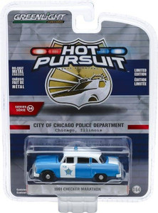 Greenlight Greenlight 1/64 Hot Pursuit 34 - 1961 Checker Marathon - City of Chicago Police