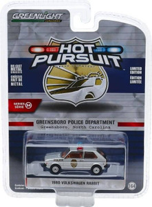 Greenlight Greenlight 1/64 Hot Pursuit 34 - 1980 Volkswagen Rabbit - Greensboro, North Carolina