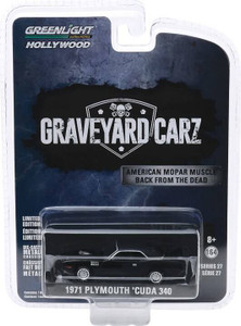 Greenlight Greenlight 1/64 Hollywood Series 27 - 1971 Plymouth Cuda 340, Graveyard Carz