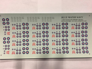All Other Brands 1/350 Blue Water Navy VS-2 USS Lexington 1942 Aircraft Air Wing Decals 5 pack