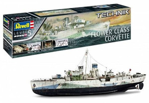 Revell 1/72 Revell Flower Class Corvette w/ Technik LED Lighting Set