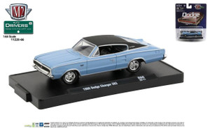 M2 Machines M2 Machines Drivers 66 - 1966 Dodge Charger 383, Blue