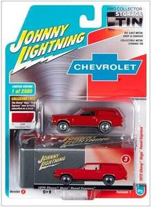 Johnny Lightning Johnny Lightning Collector Tin 1/64 R3 - 1972 Vega Panel Express in Cranberry Red
