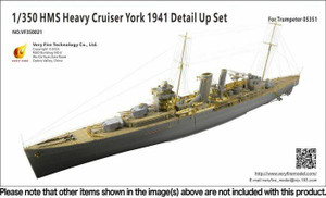 Very Fire 1/350 Very Fire HMS York Detail Set for Trumpeter