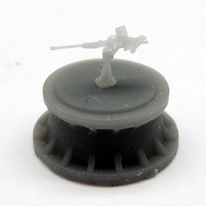 Black Cat Models 1/350 Black Cat Models IJN 25MM TYPE 96 SINGLE MOUNT AA GUN X9