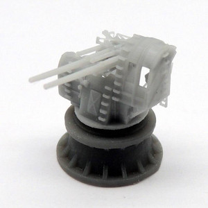 Black Cat Models 1/350 Black Cat Models IJN TYPE 89 AA TWIN MOUNT UNDER PROTECTIVE SHIELD X2