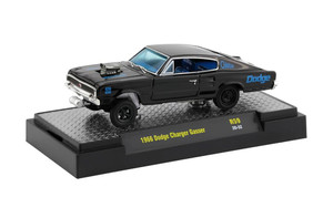 M2 Machines 1/64 M2 Machiens Auto-Thentics 59 1966 Dodge Charger Gasser, Black