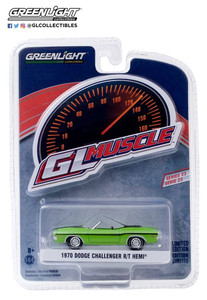 Greenlight Greenlight 1/64 1970 Dodge Challenger R/T HEMI Convertible in Sublime Green