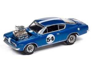 Johnny Lightning Johnny Lightning 1967 Plymouth Barracuda / Custom Spoilers – Metallic Blue