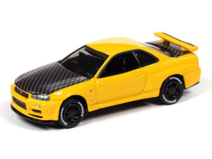 Johnny Lightning Johnny Lightning 2000 Nissan Skyline Import Heat – Lightning Yellow