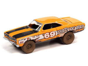 Johnny Lightning Johnny Lightning 1969 Plymouth Road Runner Off-Road – Orange w/Race Graphic