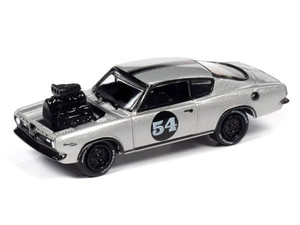 Johnny Lightning Johnny Lightning 1967 Plymouth Barracuda / Custom Spoilers – Silverwhite Metallic w/Black Trim