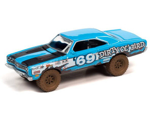Johnny Lightning Johnny Lightning 1969 Plymouth Road Runner Off-Road – Corporate Blue w/Race Graphics