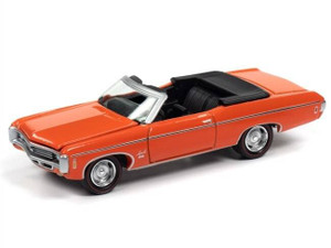 Johnny Lightning Johnny Lightning 1969 Chevrolet Impala SS Convertible Top Down in Hugger Orange