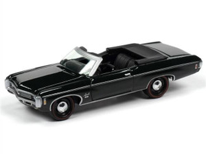 Johnny Lightning Johnny Lightning 1969 Chevrolet Impala SS Convertible Top Down Fathom Green