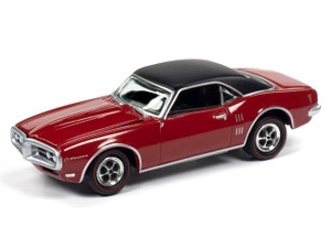 Johnny Lightning Johnny Lightning 1968 Pontiac Firebird in Solar Red with Flat Black Roof