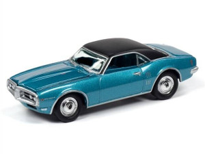 Johnny Lightning Johnny Lightning 1968 Pontiac Firebird Meridian Turquoise w/Flat White Roof
