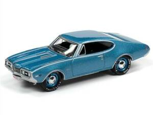 Johnny Lightning Johnny Lightning 1968 Oldsmobile Cutlass W31 Ram Rod 350 in Sapphire Blue Poly