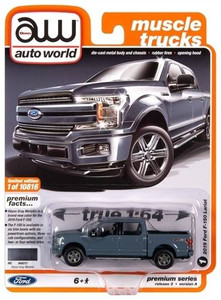 AutoWorld Auto World 1/64 2018 Ford F-150 Abyss Gray