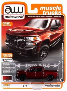 AutoWorld Auto World 1/64 2019 Chevy Silverado Custom Trailboss Cajun Red Tintcoat