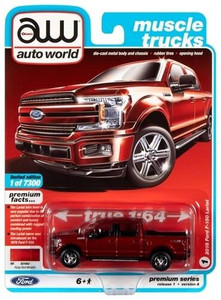 AutoWorld Auto World 1/64 2018 Ford F-150 Race Red