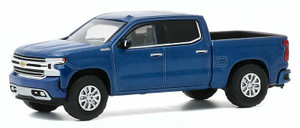 Greenlight 1/64 2020 Chevrolet Silverado High Country in North Sky Blue Metallic