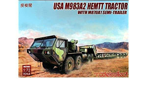 ModelCollect 1/72 Modelcollect USA M983A2 HEMTT Tractor and M870A1 Semi-trailer