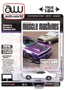 Auto World 1/64 Hemmings Muscle Machines – 1970 Dodge Challenger R/T Gloss White