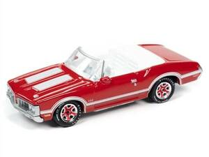 Johnny Lighting Johnny Lighting 1/64 1970 Oldsmobile 442 Convertible Matador Red