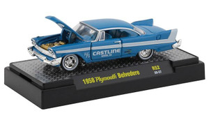 M2 Machines 1/64 M2 Machines Detroit Muscle 52 1958 Plymouth Belvedere in Cyanide Blue and Iceberg White