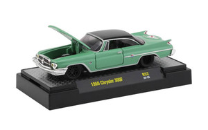 M2 Machines 1/64 M2 Machines Detroit Muscle 52 1960 Chrysler 300 F in Mist Green Metallic and Black Pearl Metallic Top