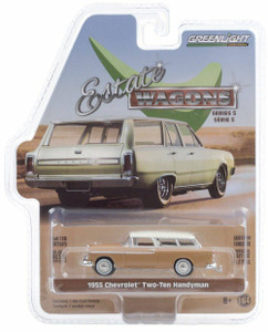 Greenlight 1/64 Greenlight 1955 Chevrolet Two-Ten Handyman - Navajo Tan and India Ivory