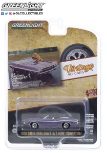 Greenlight 1/64 Greenlight 1970 Dodge Challenger R/T Convertible Our Plum Crazy Challenger R/T Is No Shrinking Violet