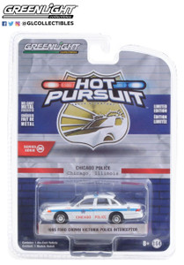 Greenlight 1/64 Greenlight Hot Pursuit Series 36 - 1995 Ford Crown Victoria Police Interceptor - City of Chicago Police Department Solid Pack