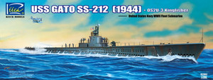 1/200 Riich Models USS Gato SS-212 Fleet Submarine (1944) + OS2U-3 Kingfisher Floatplane