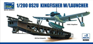 Riich Models 1/200 Riich Models OS2U-3 Kingfisher w/Launcher Model Kits X2