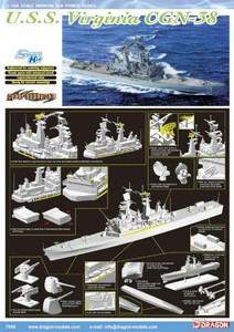Dragon Models 1/700 Dragon Models USS Virginia CGN-38