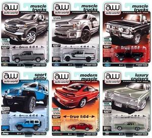 Auto World 1/64 Auto World Premium 2020 Release 5 Set A 6-Car Sealed Case Diecast