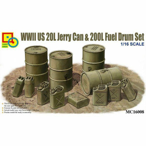 Classy Hobby Classy Hobby 1/16 Scale Wwii Us 20L Jerry Can and 200L Fuel Drum Set