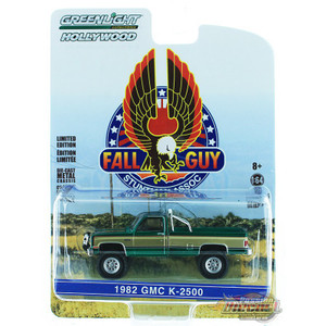 Greenlight 1/64 Scale Fall Guy Stuntman Association - 1982 Gmc K-2500 - GREEN MACHINE