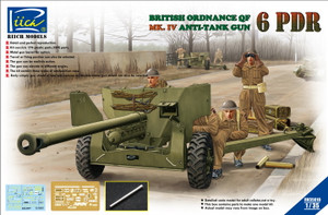 Riich Models 1/35 Scale Ordnance QF 6-Pdr. Mk. IV Late War Infantry Anti-tank Gun (w/Metal gun barrel)