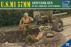 Riich Models 1/35 Scale U.S.M1 57Mm Anti-Tank Gun On M2 Carriage _Late Version)