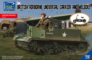 Riich Models 1/35 Scale British Airborne Universal Carrier Mk.Ill & Welbike Mk.2