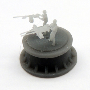 Black Cat Models 1/350 Scale M2 Browning Single And Twin Mgs With Gunner, No Stand (X12)