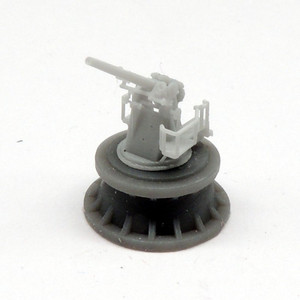 Black Cat Models 1/350 Scale Royal Navy 4In. Qf Mk.V Gun On High Angle Mk.Iii Mounting (X4)